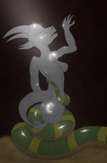 Creststella petrified by the Stone breathed Cobra! by Crafty-Cobra