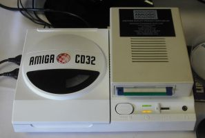 Amiga CD32 with Floppy Disk Drive by betterwatchit