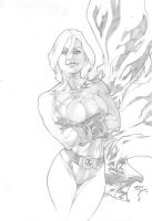 Iago Maia: Power Girl by comiconart