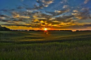 Alberta Sunset HDR by ToXxIcRoSe