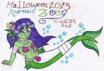 Halloween 2013: Mermaid Zoey by gilster262