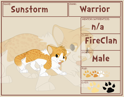 Sunstorm  | The Warriors Guild |RelationsUPDATED by rainwolfeh