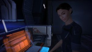 Ashley Williams - Mass Effect, on the Normandy by loraine95