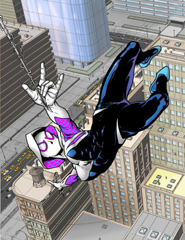 Spider Gwen Color DA by hawk5