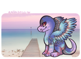 [Auction] Sunset dragon .:Closed:. by coconuteIIa
