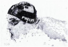 Michael Phelps by Exenity