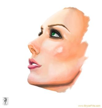 Woman's Face -- Sketch of the Day #1 by BryceFrits