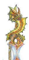 Gold Dragon sword by silentwillow