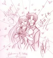 The Handsome Blossom Wedding. by PoisonedPurity