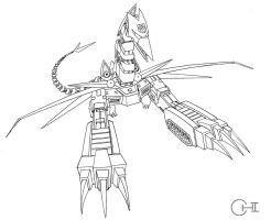 SkyLynx Line Art by cwmodels