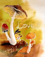 Love -- watercolor by icecream80810