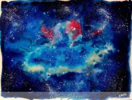 my small galaxy -watercolor- by xxMagicGlowxx