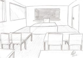Rough of Palane Class Room by kendrawer