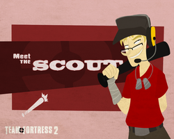 Meet the RED Scout- Portal Fortress 2 by Crescent-Mond