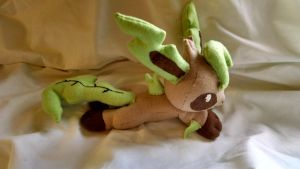 Leafeon Beanie Plushie (Pic 2) by KahleyCreations
