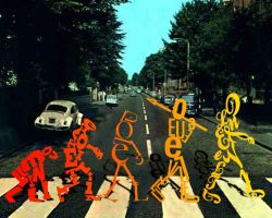 Beatles Evolution of typography 2 by SilverThornz
