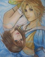 Yuna and Tidus by Valkerea-Ikay