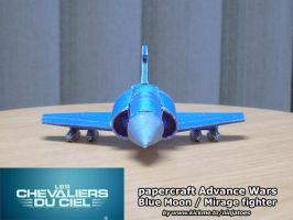 Papercraft Blue Moon Fighter Chevaliers du Ciel by ninjatoespapercraft