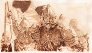 Eomer - coffee painting by Adnaurian