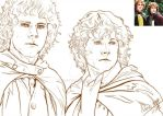 [LOTR] Merry and Pippin by noei1984