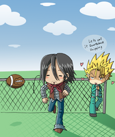 Kid and Hiruma by VooDooDollMaster