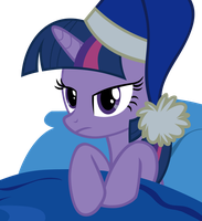 Twilight in bed w/ nightcap S4E6 by Brandon4