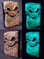 Oogie Boogie Zippo by Undead Ed Glows in the Dark  by Undead-Art