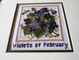 Violets of February by Electra-Maia