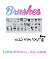 Pack de Brushes para Pixlr- Estos si son mio XD by LaliEditions