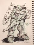 Inktober #19 Custom Zaku by Mecha-Zone