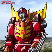 Rodimus Prime - Colorized by MDTartist83