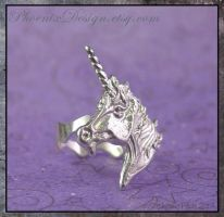 Unicorn Ring in Sterling Silver by StephaniePride
