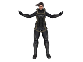 'XCOM: Enemy Within' Annette psi-armor XPS ONLY!!! by lezisell