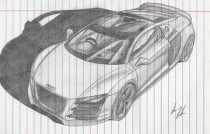 audi r8 sketch by Ghost21501