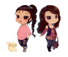 Chibi -Twins by Vicle-chan