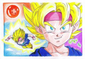 Goku Jr. by EloAnNe