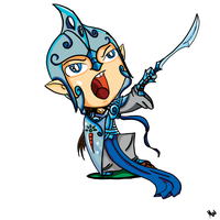 Fingolfin Chibi by Illunfar