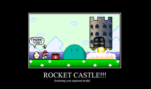 Rocket Castle by RandomlyEvilXirroq