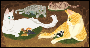 Thunderclan Queens by Skelos-kath
