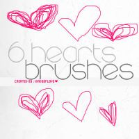 hearts brushes by kindsoflove