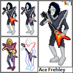 Ace Frehley of KISS by hunEtER0121773