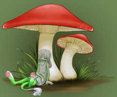 Sleeping Shrooms by Clouded-3D