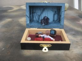 Samara's coming from the Ring miniature diorama by SelloCreations