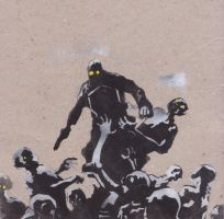 Lobster Johnson Stencil by upton-pickman