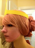 WIP - Princess Bubblegum Wig and Makeup by lulutetium