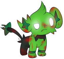 Zombie Shinx by CommanderMitsuki