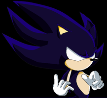 Dark Super Sonic the Hedgehog by SuperMysticSonic