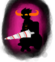 Shadow Tavros by Jam-Bot