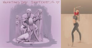 Valentine's day sketches by ienkub