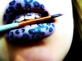 painted lips by morgangirlygril